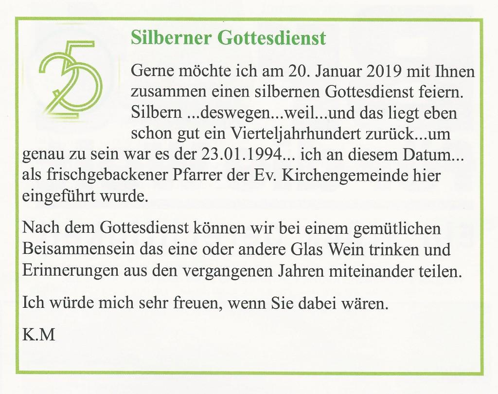 Silberner Gottesdienst 18